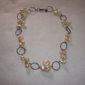 Jewelry - Sterling Silver Fresh Water Coin Pearl Necklace